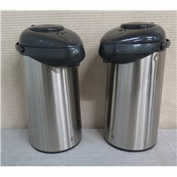 "Qty 2 Coffee Thermos Warmers 15""H"