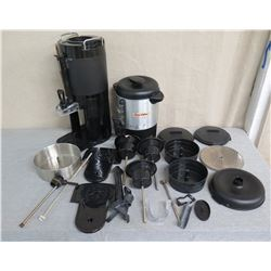 Qty 2 Coffee Dispensing Servers & Multiple Accessories