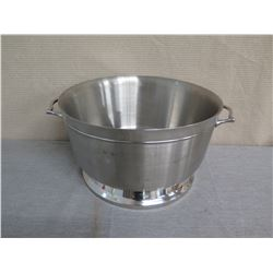 "Metal Round Ice Bucket w/ Handles 19"" Diameter x 11""H"
