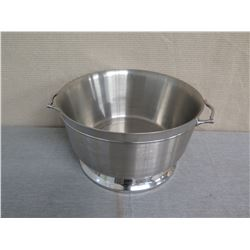 "Metal Round Ice Bucket w/ Handles 19"" Diameter x 11""H"