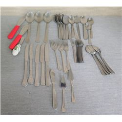 Multiple Flatware: Knives, Forks, Spoons, Serving Spoons, Pie Spatulas, etc