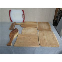 Qty 5 Misc Size Wooden Chopping Boards