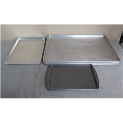 Qty 10 Metal Baking Sheets - Misc Sizes