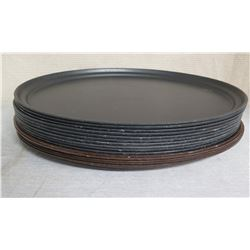 "Qty 15 Round Serving Trays 22"" & 26"" Diameter"