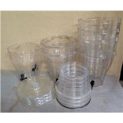 Multiple Clear Containers w/ Scalloped Edges & Some Lids