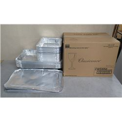 Box Classicware 100 Elegant 6oz Wine CWSWN6 & Multiple Aluminum Serving Pans