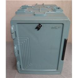 Green Front Loading Insulated Food Pan Carrier