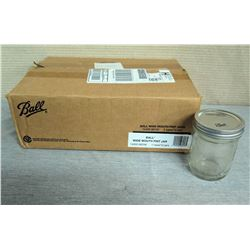 Qty 14 Ball  Wide Mount Pint Jars w/ Metal Lid in Box