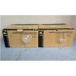 Qty 2 Boxes Service for 12 Balloon 20oz Wine Glasses (16 Total)
