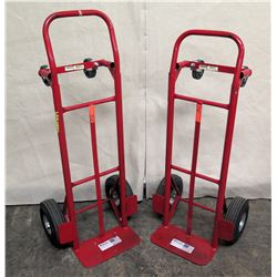 Qty 2 Milwaukee 0910 Red Convertible Folding Hand Truck Carts