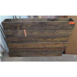 """Qty 6 Wooden Troughs Planters 48""""L x 7""""W"""