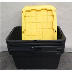Qty 6 Greenmade 27 Gallon Storage Boxes w/ Lids Professional Grade