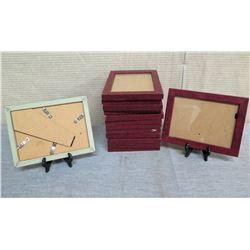 "Qty 12 Wooden Photo Frames 8""L x 6""W"
