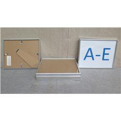 """Qty 5 Frames 10.5""""L x 8.5"""" W with Alphabet"""