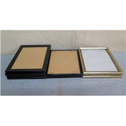 Qty 6 Black & 2 Painted Photo Frames Misc Sizes