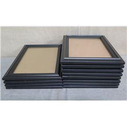"""Qty 12 Black Photo Frames 12""""L x 10""""W"""