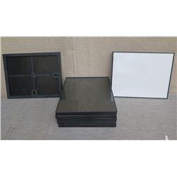 """Qty 7 Black Photo Frames 10""""L x 8""""W"""