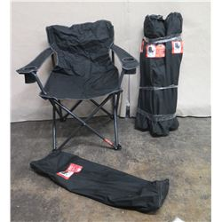 Qty 2 Sports Authority 1/4 Ton Chairs w/ Carry Cases 500lbs Cap (Retail $120 each)