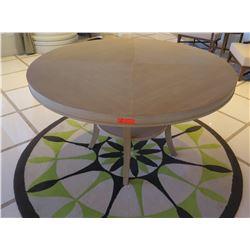 "Round Wooden Table with Undershelf, 59"" Diameter x 34""H"