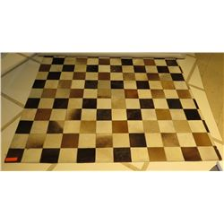 "Checked Square Area Rug 71""x59"""
