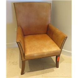 """Wooden Upholstered Armchair 28""""W x 11"""" Seat x 38""""H"""