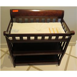 """Wooden Baby Changing Table w/ 2 Undershelving 35""""L"""