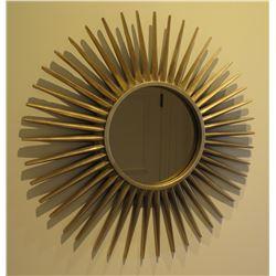 "Sun Wall-Mount Mirror, 34"" Diameter"
