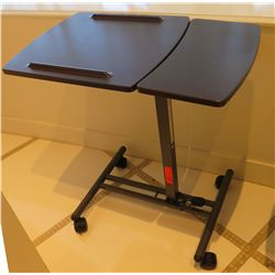 """Portable Folding Adjustable Table with Wheels 28"""" x 17"""" x 29""""H"""