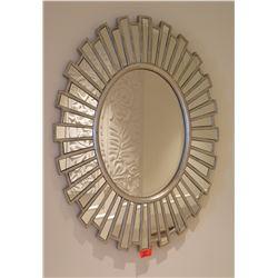 "Decorative Sun Wall Mount Mirror 28"" x 37"""