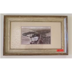 "Old Waikiki Scene Photographic Print, 31"" x 19"" Framed & Matted"