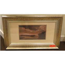 """Ship Scene Photographic Print, 31"""" x 19"""" Framed & Matted"""