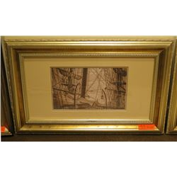 """Ship Scene Photographic Print 32"""" x 20"""" Framed & Matted"""