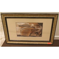 """Ship Scene Photographic Print 47"""" x 29"""" Framed & Matted"""