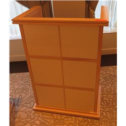"Wood Podium w/ Lectern & 4 Shelves 21"" x 21"" x 43""H"