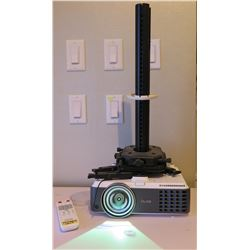 Benq HDMI DLP Projector w/ Remote & Ceiling Mount