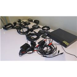 Sony Blu-Ray BDP-S3500 & MuxLab 1x2 Splitter, KanexPro 4K 2-Port Splitter, etc
