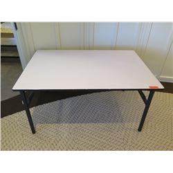 """White Rectangle Folding Tables 55""""L x 37""""W x 28""""H"""