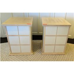 "Qty 2 Wooden Side Tables/Nightstands w/ Shelving 24"" x 24"" x 32""H"