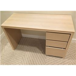 "Wooden Desk w/ 3-Drawer File Cabinet 47"" x 20"" x 29"""