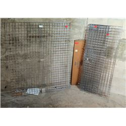 Unassembled Metal Wire Liquor Cage/Cabinet