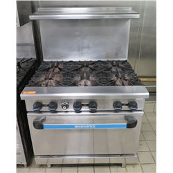 Radiance 6-Burner Gas Range & Oven w/ Top Shelf