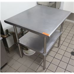 "Metal Utility Table w/ Undershelf 36""L x 30""W x 35""H"