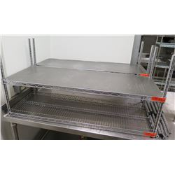 "Metal 2-Tier Wire Shelving 24""L x 18""W x 48""H, Unassembled"