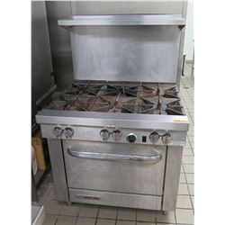Southbend 6-Burner Gas Range & Oven w/ Top Shelf
