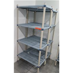 "Qty 2 Metro Max 3-Tier Shelving Units 35""L x 18""W X 75""H"