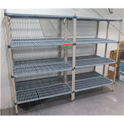 "Qty 4 Metro Max 3-Tier Shelving Units 47""L x 18""W X 75""H"