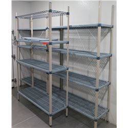 "Qty 3 Metro Max 3-Tier Shelving Units 54""L x 18""W X 87""H"