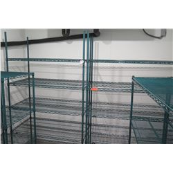 Qty 5 Wire 4-Tier Shelving Units