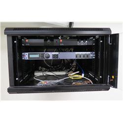 JBL CSA DriveCore Power Amplifier 1210Z & DBX Zone Pro 640m in Wall Mount Cabinet