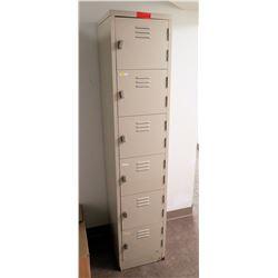 """Metal 6-Compartment Locker Unit 15""""L x 18""""W x 72""""H"""